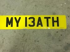 Number plate MY13 ATH (MY 13ATH) MY BATH? cherished Bath rugby