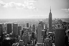 New York City, Buildings Scenery Retro Poster Fabric 12x18 Inch Print Decor 84