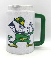 Notre Dame Leprechaun Logo Whirley Insulated Hot Cold Mug University ND
