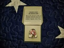 VINTAGE LORD NELSON  POTTERY SCARF OR CRAVAT RING WITH PINK ROSE AND VIOLET.