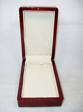 Cherry Wood Lacquer Necklace Gift Jewelry Display Box