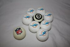 NEW Officially Licensed Miami Dolphins Football Billiard Pool Cue Ball Half Set