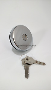 Chrome Metal Locking Gas Cap w/ Keys For 1947-1971 Ford & Chevy Models
