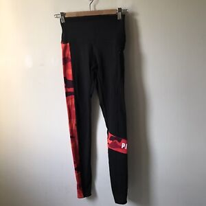 Pink Victoria Secret Ultimate low waist stretch legging red black women size xs