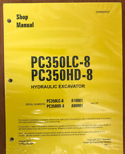 Komatsu PC350HD-8 PC350LC-8 Service Repair Printed Manual