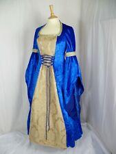 Renacimiento Vestido Disfraz Azul Real Medieval talla personalizado hecho a