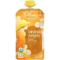 Plum Organics Stage 2 Organic Baby Food  Banana & Pumpkin  Pack 12 Exp 01/21