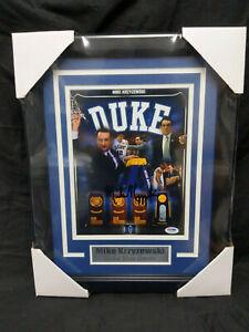 MIKE KRZYZEWSKI Signed Duke Basketball 8x10 Photo FRAMED Autograph PSA/DNA COA