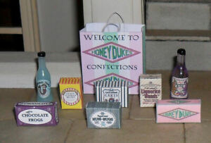 HAND-MADE DOLLS' HOUSE 1/12TH SCALE BAG OF HARRY POTTER BOXES AND BOTTLES