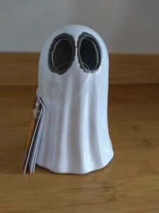 """Halloween Multi Color Changing LED 5"""" Ceramic Light Up Ghost"""