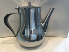 STAINLESS STEEL TEA POT COFFEE KITCHEN FLIP LID HANDLE RESTAURANT QUALITY 13OZ