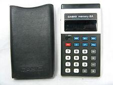 Rare 70´s vintage Calculator calculadora Casio memory - 8 a + case working