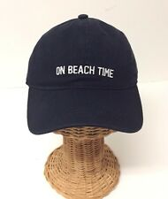 On Beach Time Embroidery Cotton Baseball Cap Adjustable Sun Visor Dad Hat,Navy