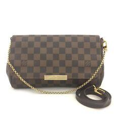 Louis Vuitton Monogram Favorite MM Shoulder Clutch Bag w/Shoulder Strap/5071X