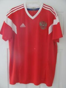 Russian Federation Russia 2018 adidas Soccer Jersey Red Size L Men's