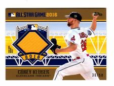 COREY KLUBER MLB 2016 TOPPS UPDATE ALL-STAR STITCHES GOLD (CLEVELAND INDIANS)
