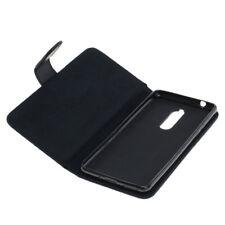 Book Case Etui Handytasche Tasche Hülle f. Nokia 5 (Schwarz)