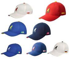 KANGOL K1697FA USA,Englnd,Brazil, taly,GE Nations 110 Adjustable Baseball Cup