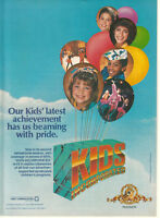Kids Incorporated 1986 Ad- beaming with pride/now in its second season/MGM