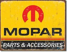Mopar Parts & Accessories Novelty TIN SIGN Metal Vintage Garage Wall Poster
