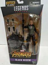 "Marvel Legends 6"" Black Widow Avengers Sealed w/ Cull Obsidian BAF Infinity War"