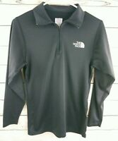 THE NORTH FACE Womens 1/4 Zip Polo Long Sleeve Performance Shirt Black Size XS