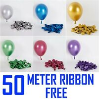 "5"" Metallic Pearl Chrome Latex Balloons for Wedding Birthday Party 10-30PCS UK"