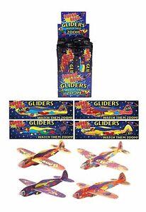 6 x SUPER HERO FLYING GLIDERS Boys Girls Toys  Party Bag Stocking Pinata Filler