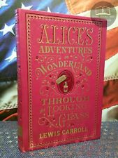 NEW Alice in Wonderland & Through the Looking-Glass Softcover Bonded Leather