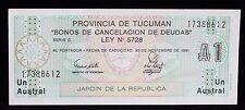 1991 Argentina Provincia De Tucaman Un Austral 17388612 S2711