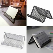 1PC Metal Wire Mesh Business Card Display Holder Black  Useful Practical Stand