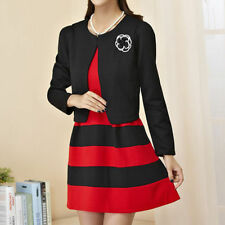 Scoop Neck Formal Striped Plus Size Dresses for Women