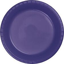 "20 Purple Wedding Birthday Party Tableware 9"" Plastic Lunch Plates"