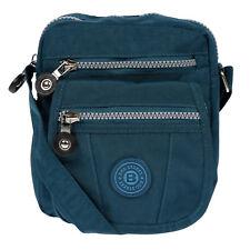 Kleine Herren Damen Jungen Mädchen Tasche Umhängetasche Crossover Bag Blau