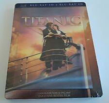 TITANIC Steelbook 3D + 2D  Blu-ray 4 Discs (German) Lenticular CoverNEW/ SEALED