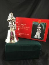 Madison Avenue 1997 Collectible Silverplated Santa Christmas Bell w/Original Box
