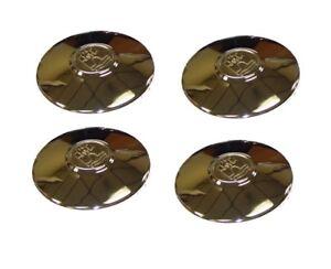 HUB CAP CHROME W/ WOLFSBURG CREST (QTY 4) SET BUG BUS GHIA T-3 68-79 251601151AC