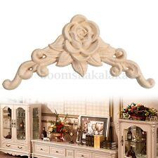 Rubber Wood Oak Carved Corner Onlay Applique Furniture Drawer Door Home Decor