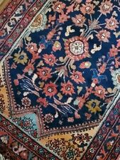 New listing 4.1 x 10.5 Antique Veg Dye Caucasian Heriz Oushak Vintage Serapi Kazak Shirvan