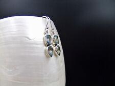 Blue Topaz, Sterling Silver, Earrings