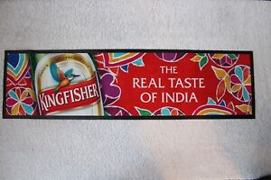 Kingfisher Beer Runner. Ideal for Home Bar/ Man Cave. 100% Genuine VRARE!!!