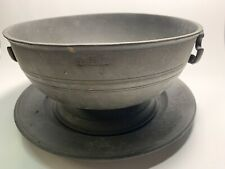 Vintage Antique Collectible John Somers Js X Mg Pewter Brazil Large Bowl & Plate