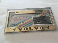 Volvo License Plate Frame - gold color