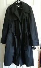 DSCP Military US Army  RAINCOAT Trench Coat Mens Size 44R 44 Regular  Black
