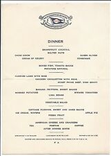 Dinner Menu, Merchants & Miners Transportation Co., Baltimore, Md c1920