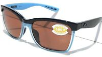 NEW* COSTA Del Mar ANA Black Blue POLARIZED 580P Rose Womens Sunglass ANA 97