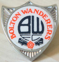 BOLTON WANDERERS FC Vintage 1970s insert type badge Brooch pin 29mm x 31mm