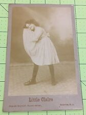 """Cabinet Card """"Little Claire"""" Circus Performer By Frank Wendt Boonton NJ"""