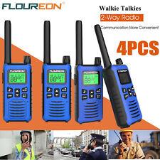 4pcs FLOUREON Walkie Talkie Long Range 2 way Radio PMR 446 16 Channel Interphone