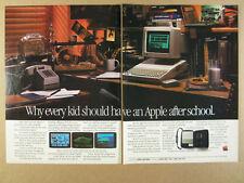 1985 Apple IIc Computer 'Why every kid' bedroom desk photo vintage print Ad